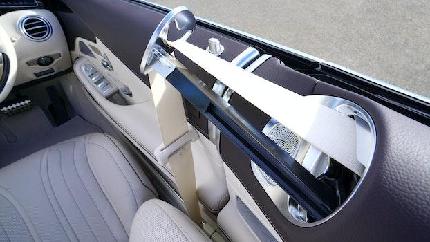 Black White Car Interior Grey