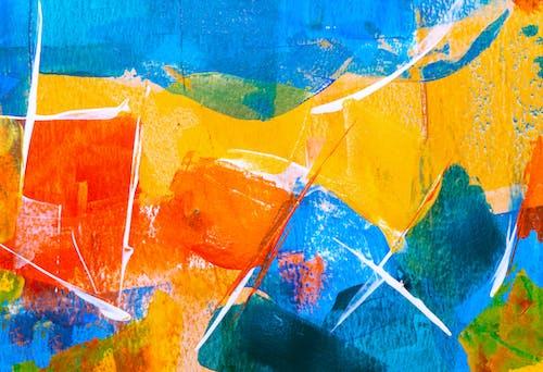 akrilik, akrilik boya, alaca bulaca, artistik içeren Ücretsiz stok fotoğraf