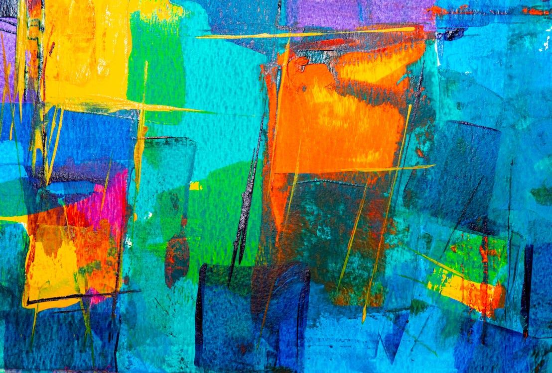 abstraktná maľba, akryl, akrylová farba