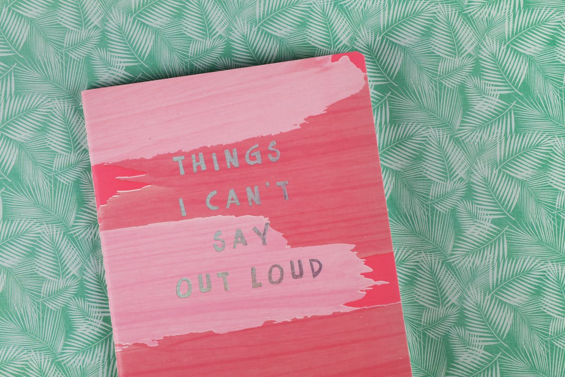 Things I Can't Say Out Load Book on Green Textile