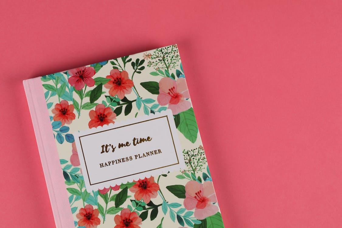 공책, 꽃, 꽃무늬