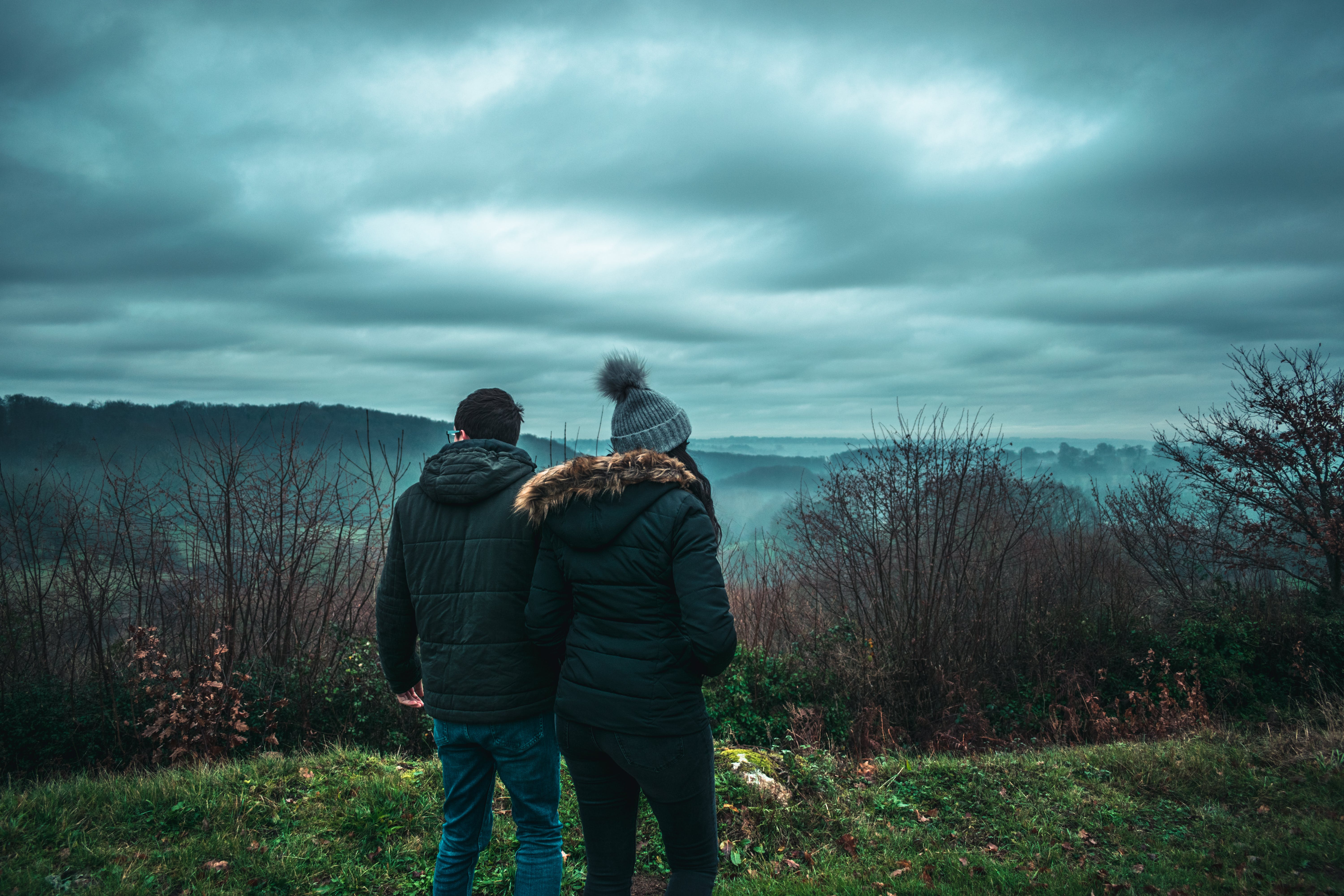 Free stock photo of clouds, cold, couples, dramatic
