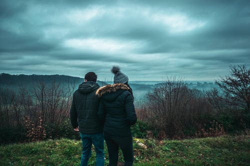 Free stock photo of clouds, cold, couples