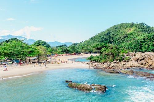 Foto d'estoc gratuïta de platja de sorra, prop del mar, Vida de platja, vora del mar