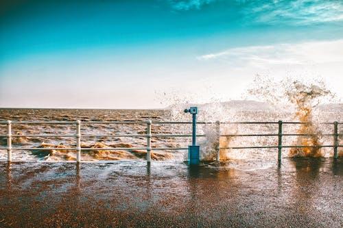 Imagine de stoc gratuită din coastă, face cu mâna, furtună, gard