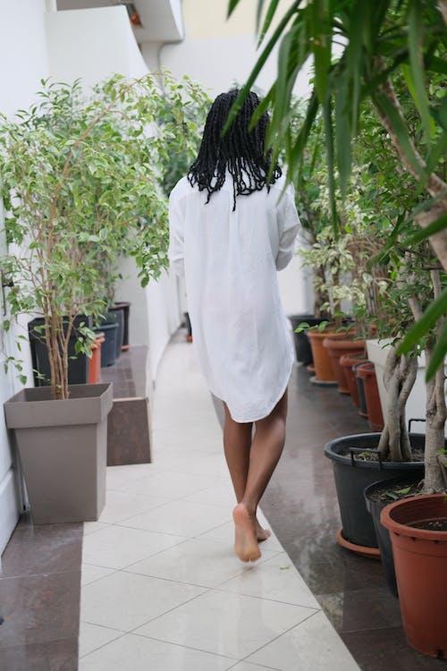 Woman Standing Outdoor \