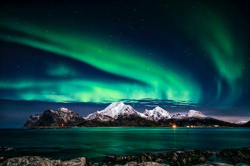 Kostnadsfri bild av aurora borealis, bakgrundsbilder mac, berg, Europa