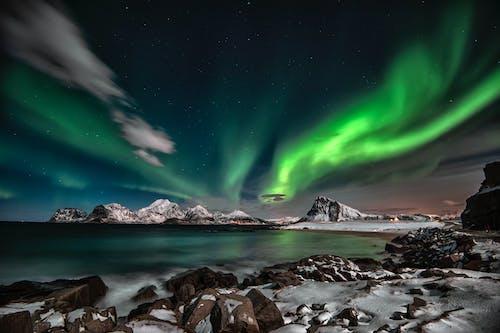 Photos gratuites de arctique, arrière-plan, aurore, aurore boréale