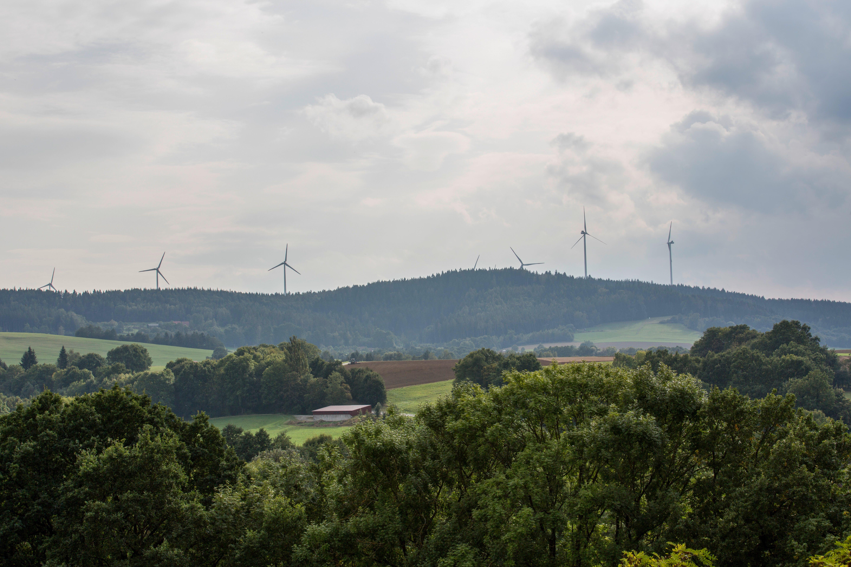 Wind Mills on Hill