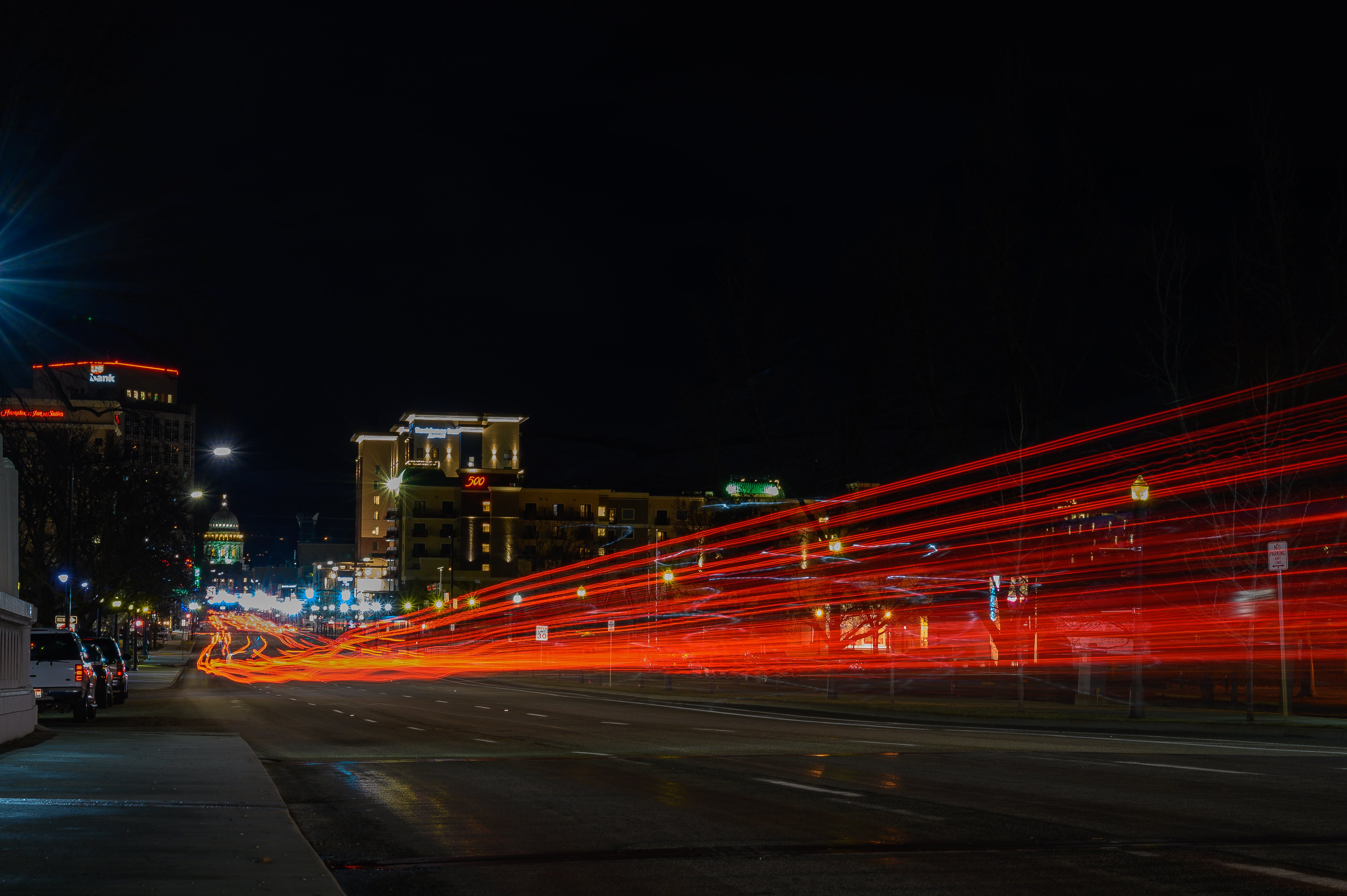 Time Lapse Photo of Highway