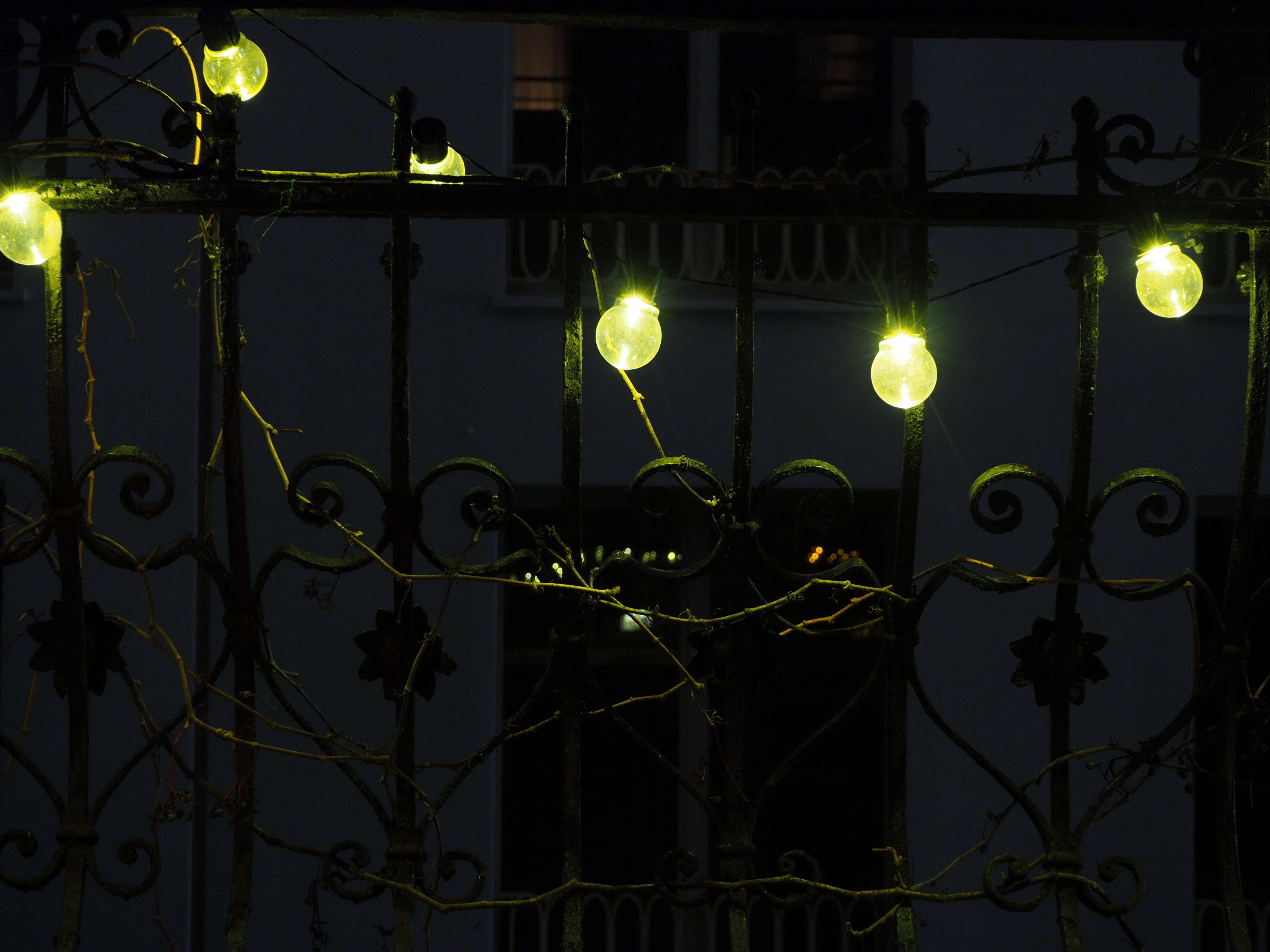 Free stock photo of balcony, string lights