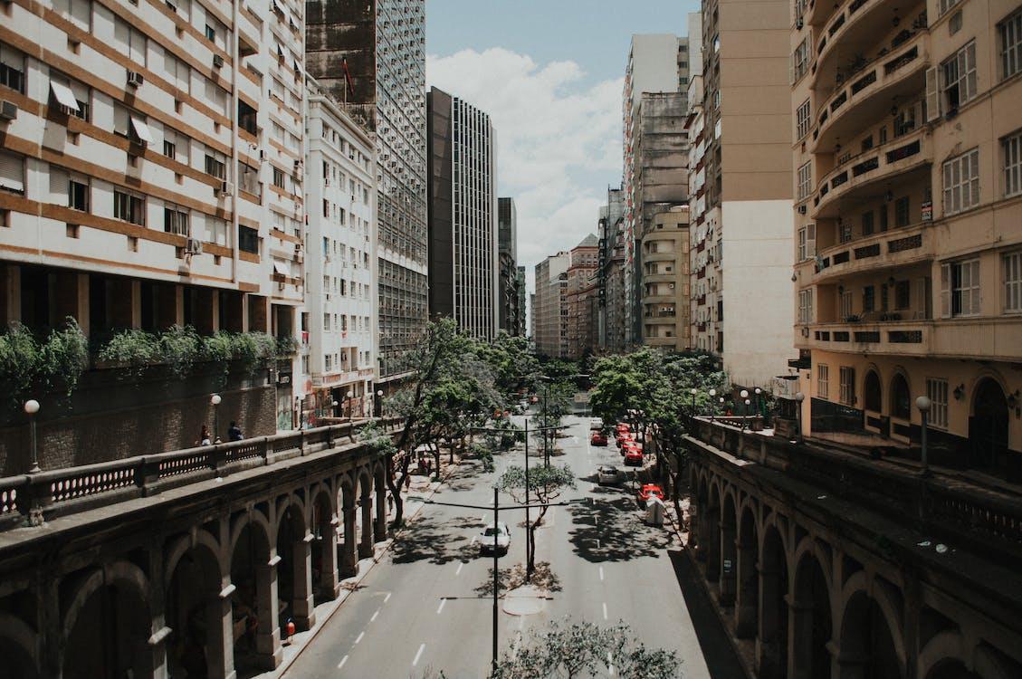 architektur, gebäude, innenstadt