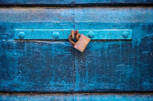 Free stock photo of blue, door, lock, street photography