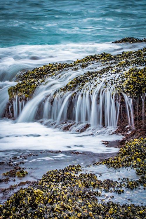 ラグナビーチ, 波が壊れる, 波の衝突, 青い水の無料の写真素材