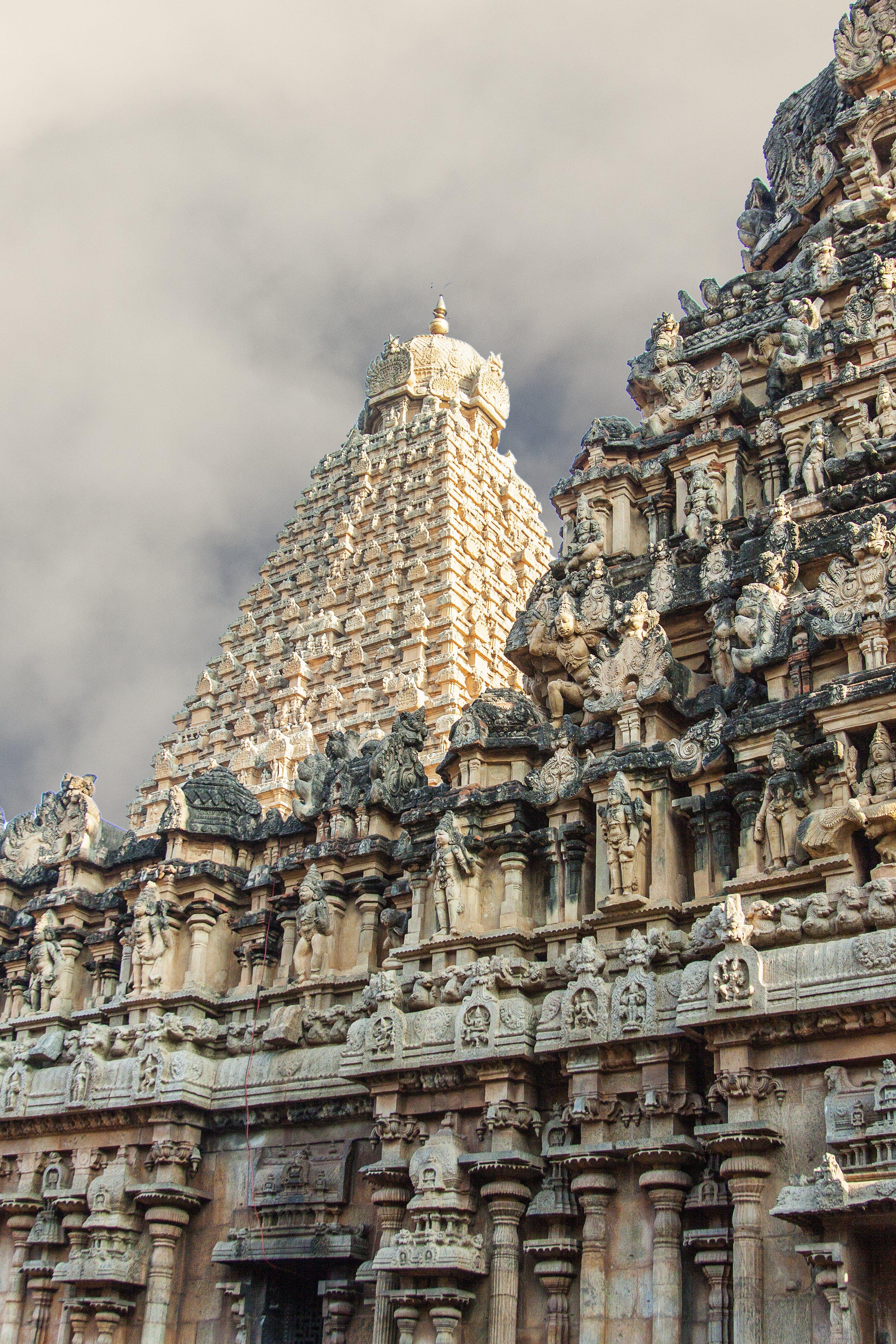 Foto profissional grátis de ancião, templo de tanjavur