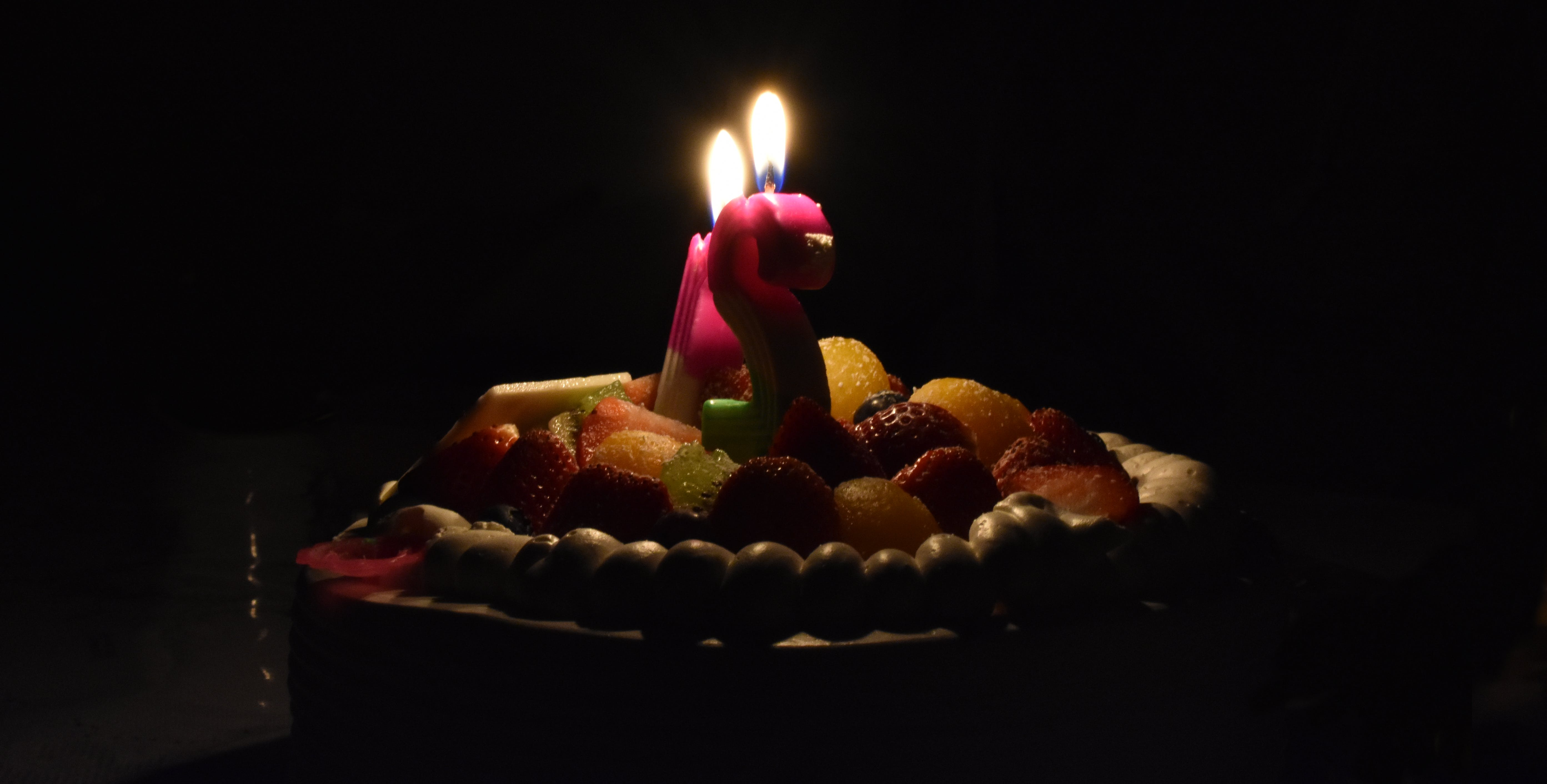 Free stock photo of age, birthday, cake, candle
