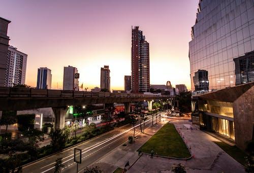 Kostnadsfri bild av bangkok, bts, byggnader, soluppgång