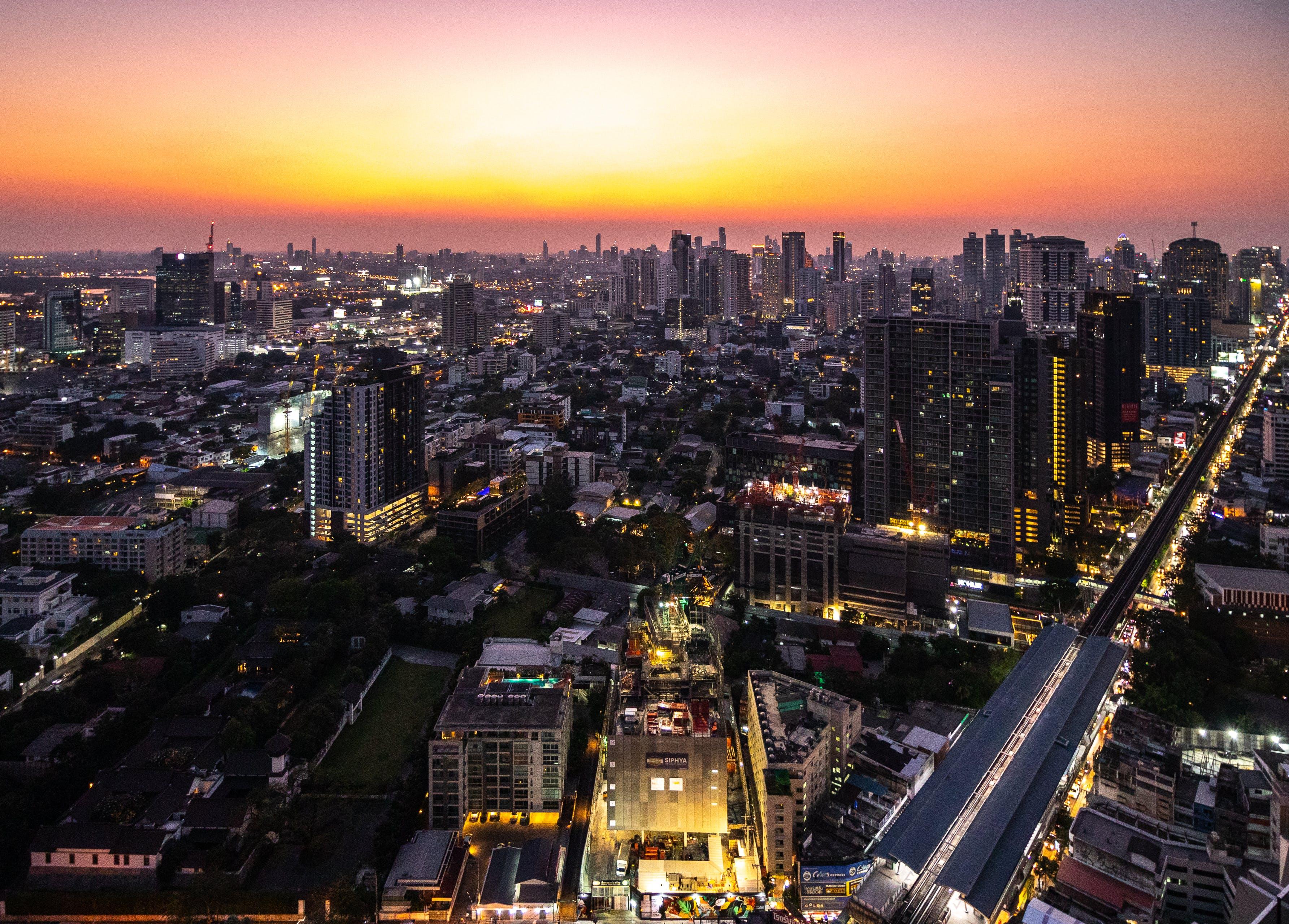 Free stock photo of Bangkok, buildings, cityscape, rooftop
