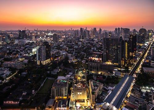 Kostnadsfri bild av bangkok, byggnader, horisont, solnedgång
