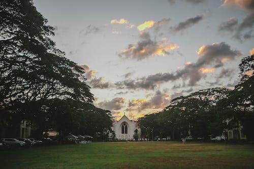 Ingyenes stockfotó naplemente, templom témában