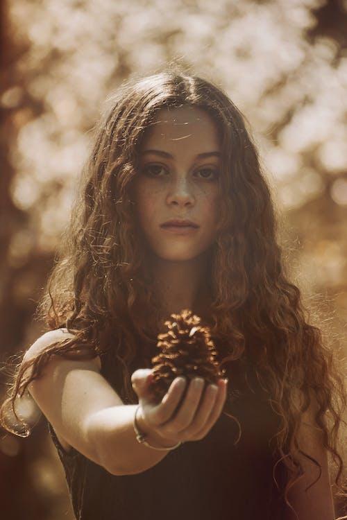 사람, 솔방울, 아름다운, 아름다움의 무료 스톡 사진