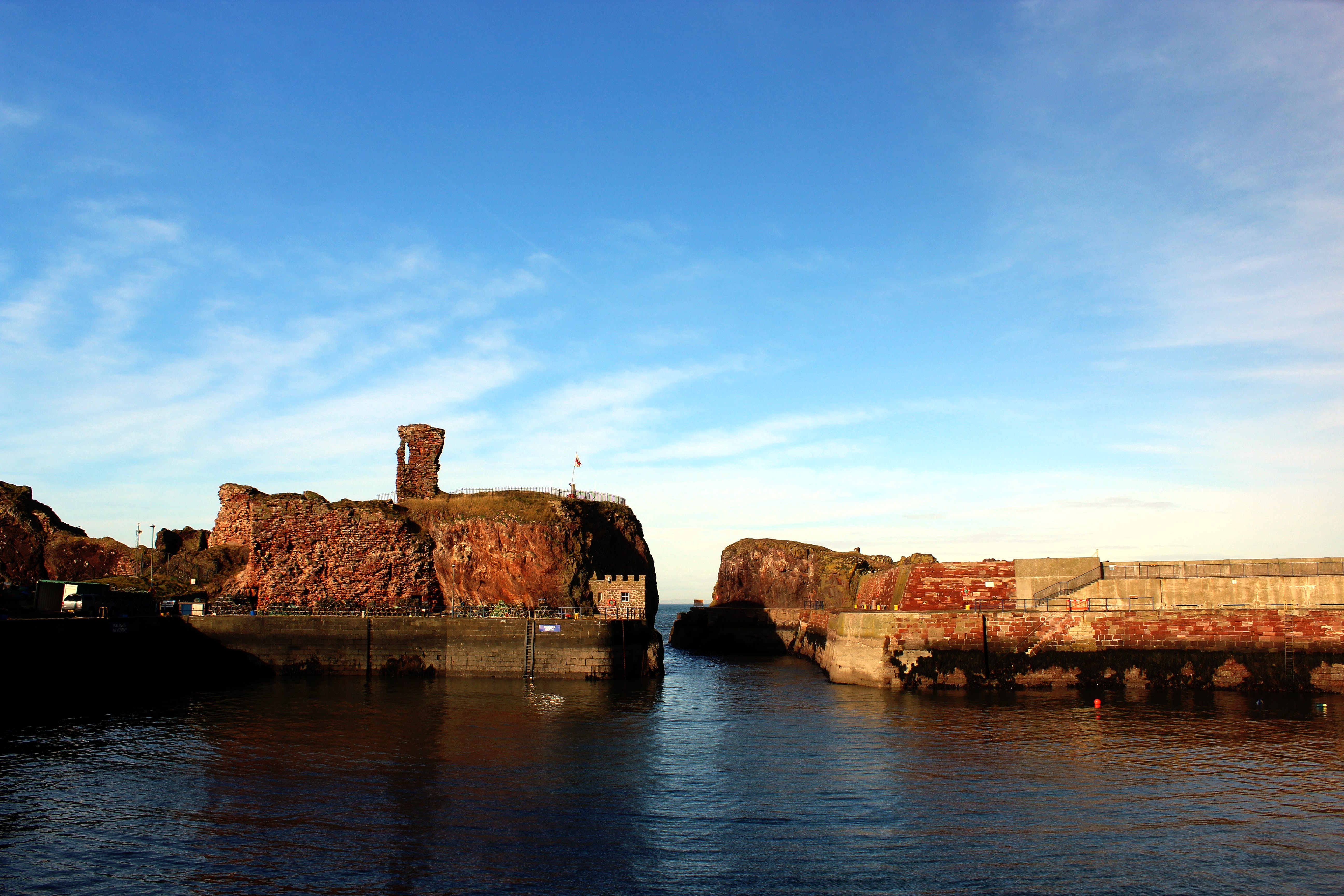 Free stock photo of dunbar, dunbar castle, fortress, landscape
