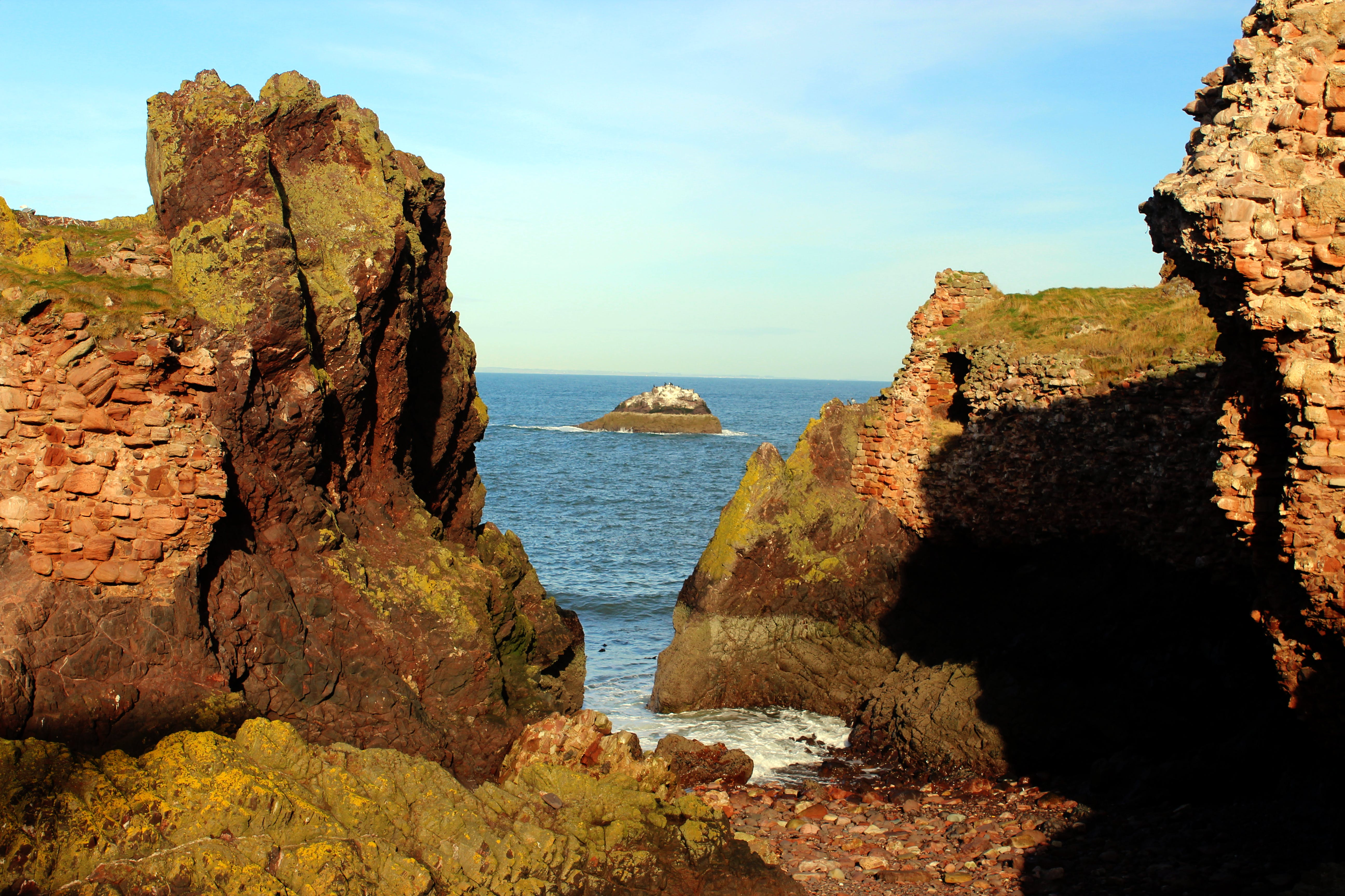 Free stock photo of blue, cliffs, dunbar coast, island