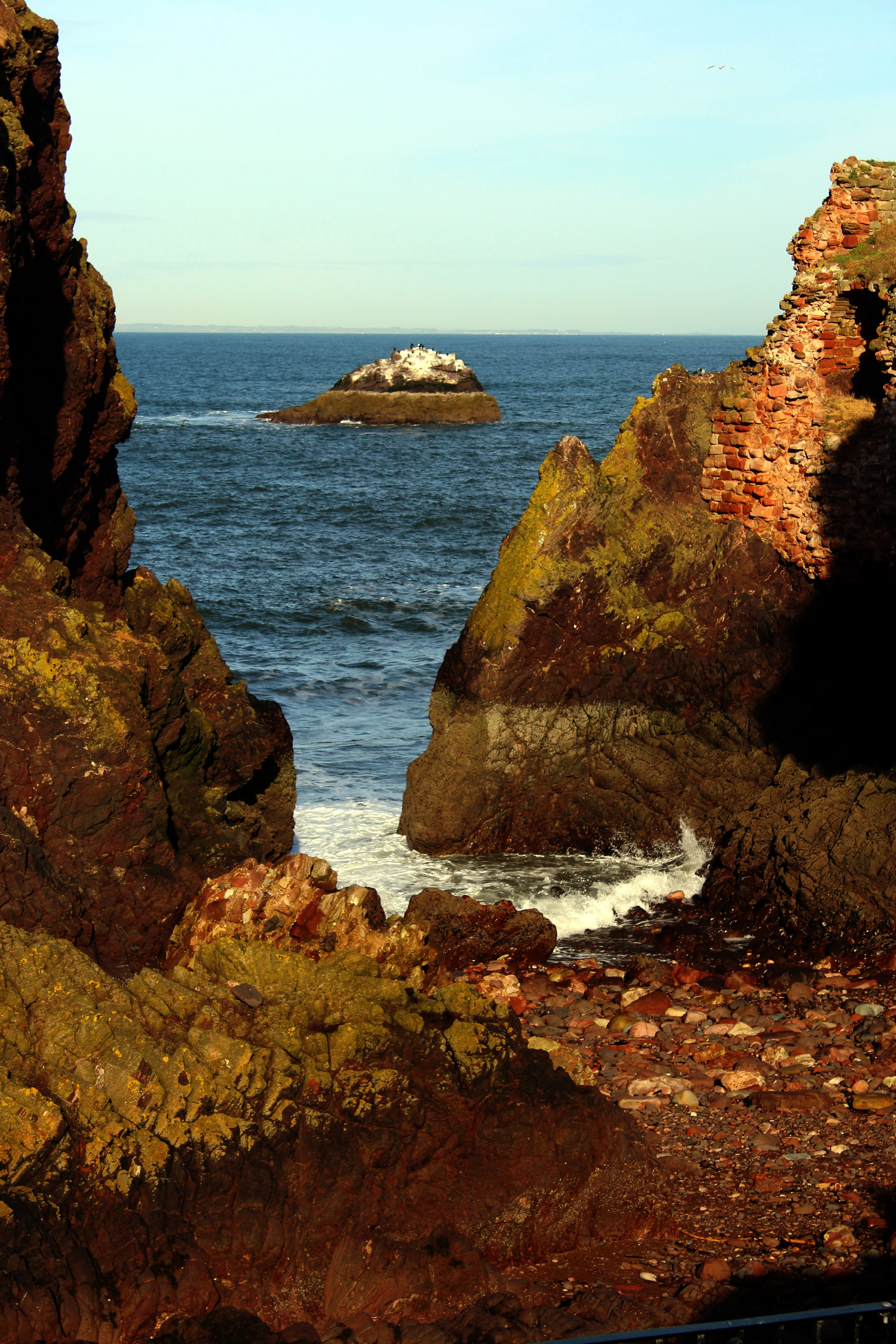 Free stock photo of blue, cliffs, dunbar coast, johny rebel photography bathgate