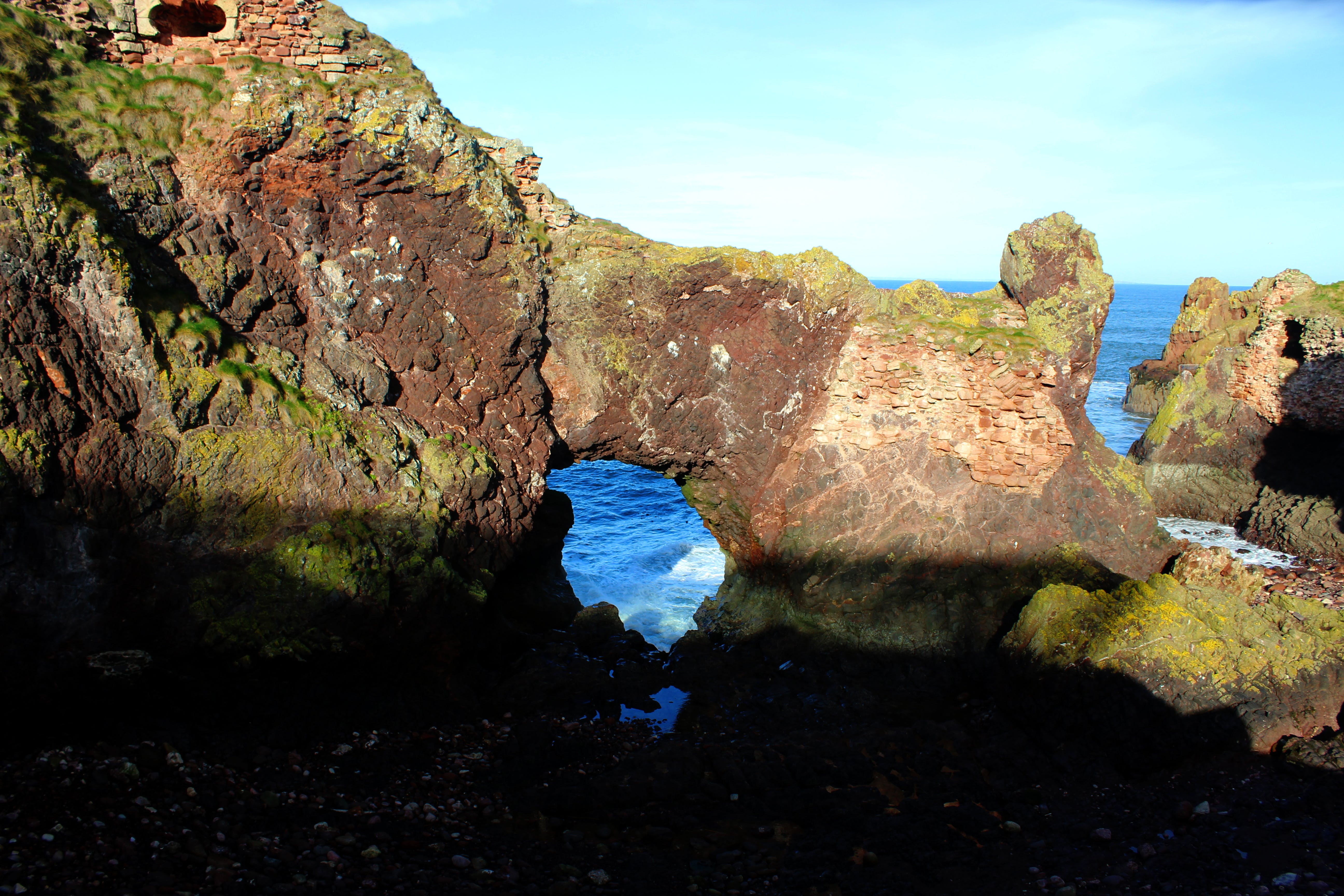 Free stock photo of cliffs, dunbar coast, rebel panda, sea