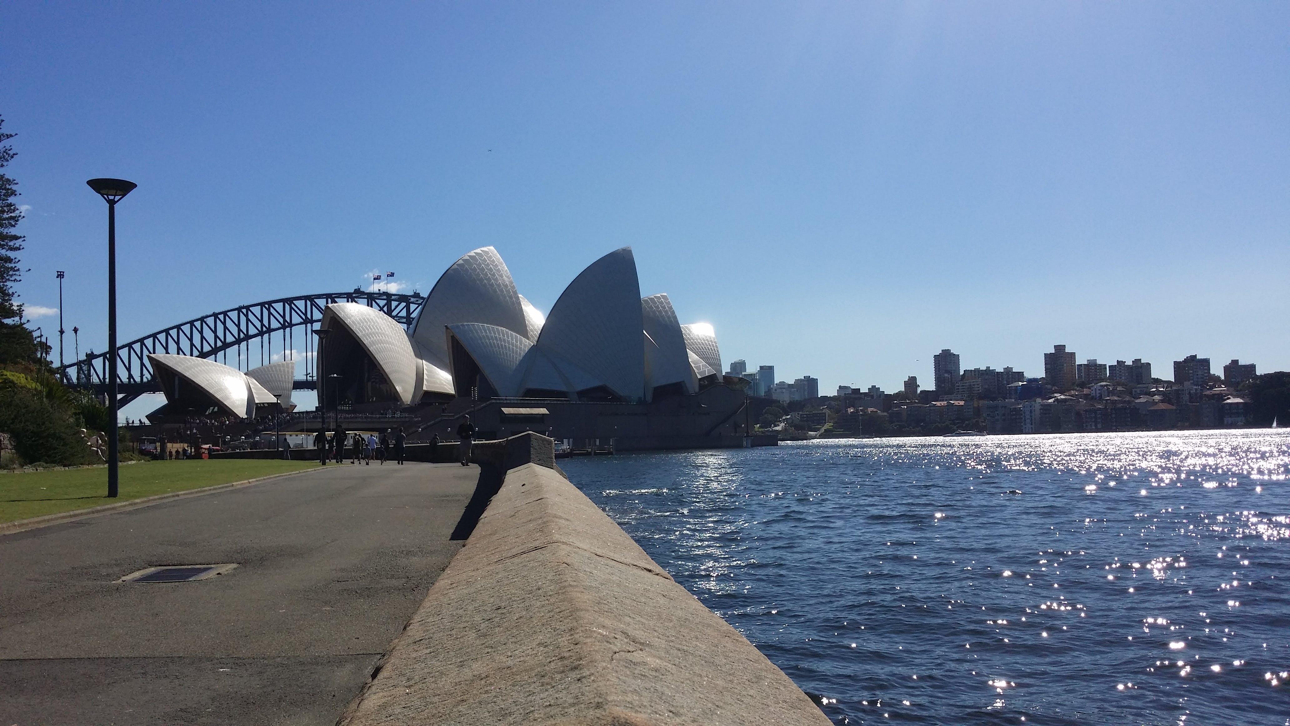 Kostenloses Stock Foto zu australien, blauer himmel, opernhaus in sydney, reise
