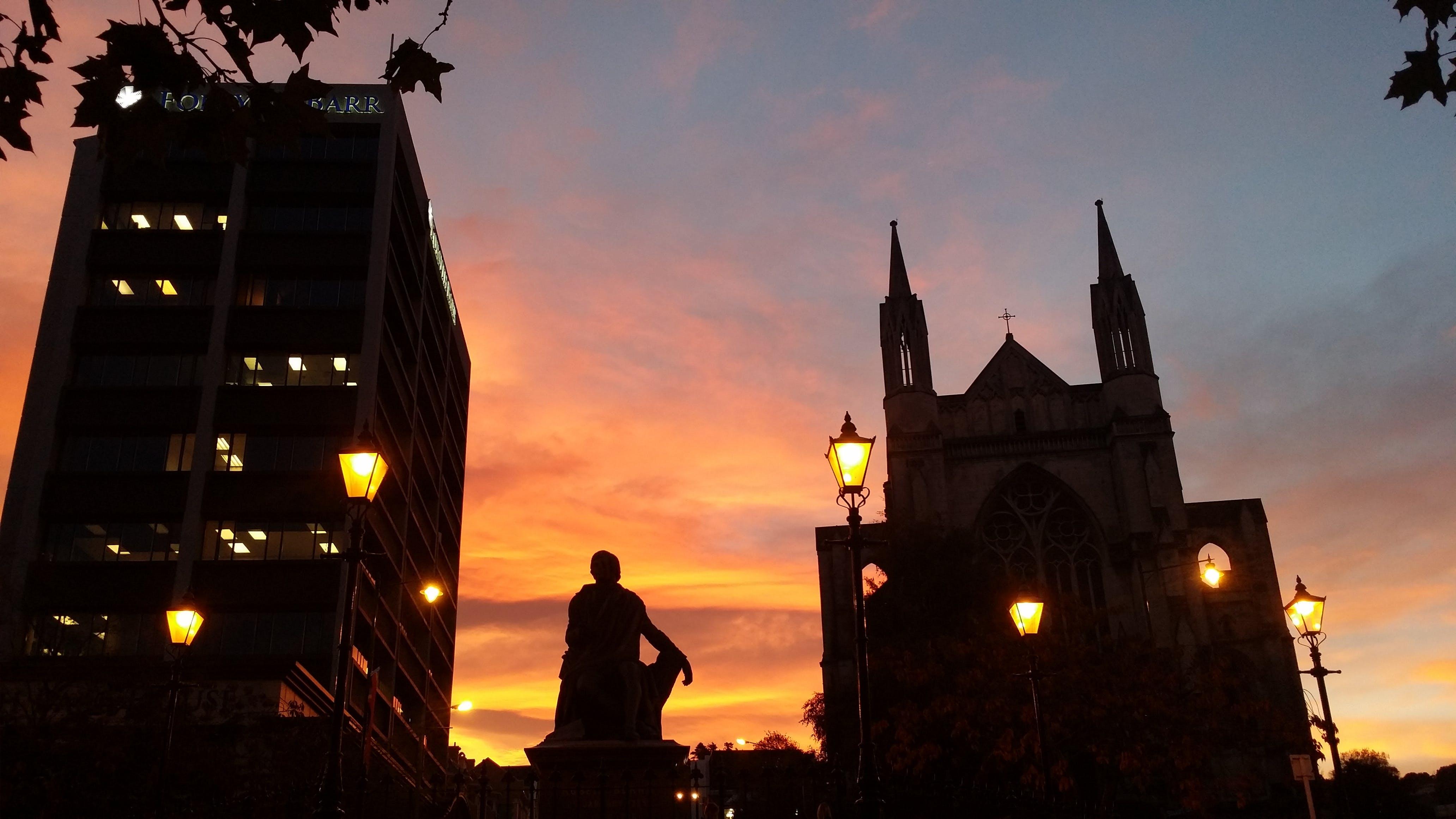 Free stock photo of architecture, evening sky, golden sun, new zealand