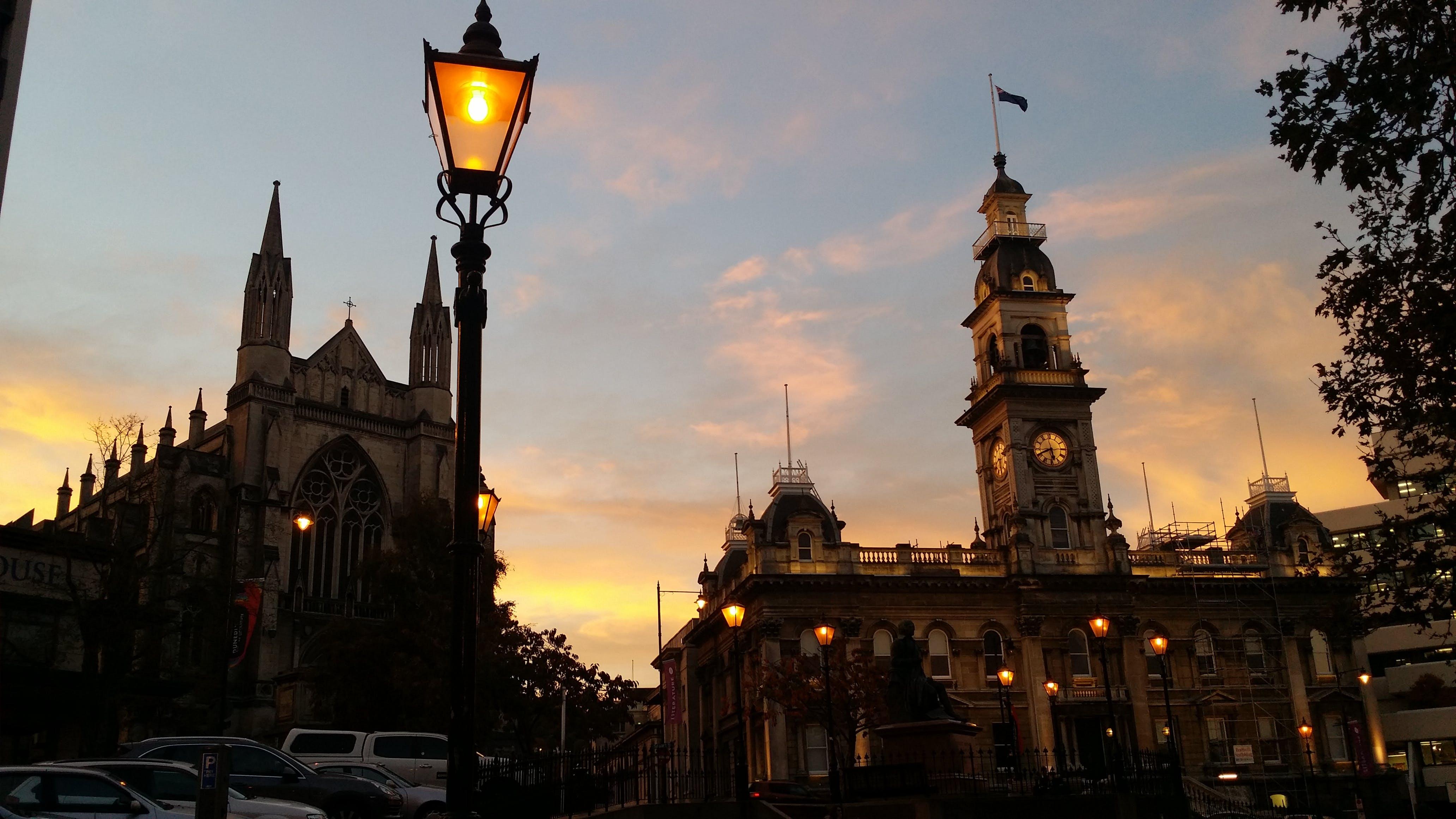 Free stock photo of sunset, summer, architecture, orange