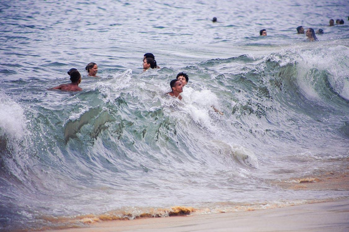 água, beira-mar, dia