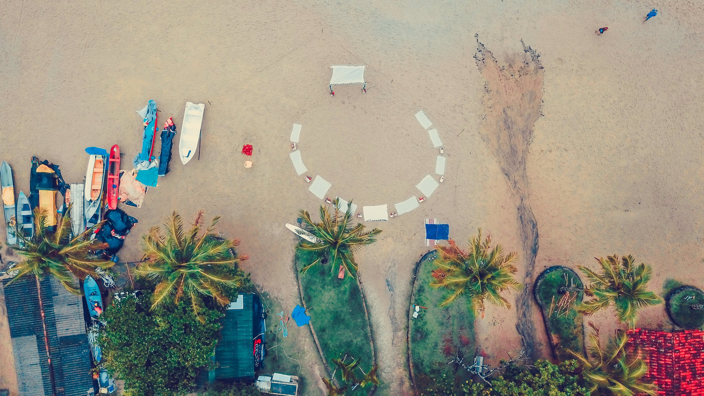 Aerial Brown Beach