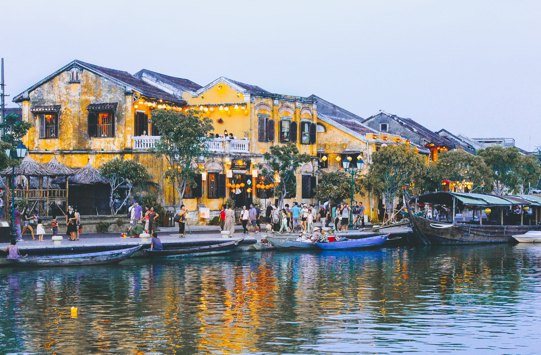 Free stock photo of canon 60d, hội an, pho, river