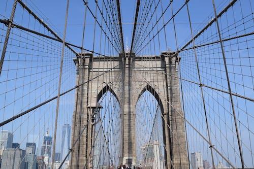 Free stock photo of brooklyn bridge, new york, simmetry