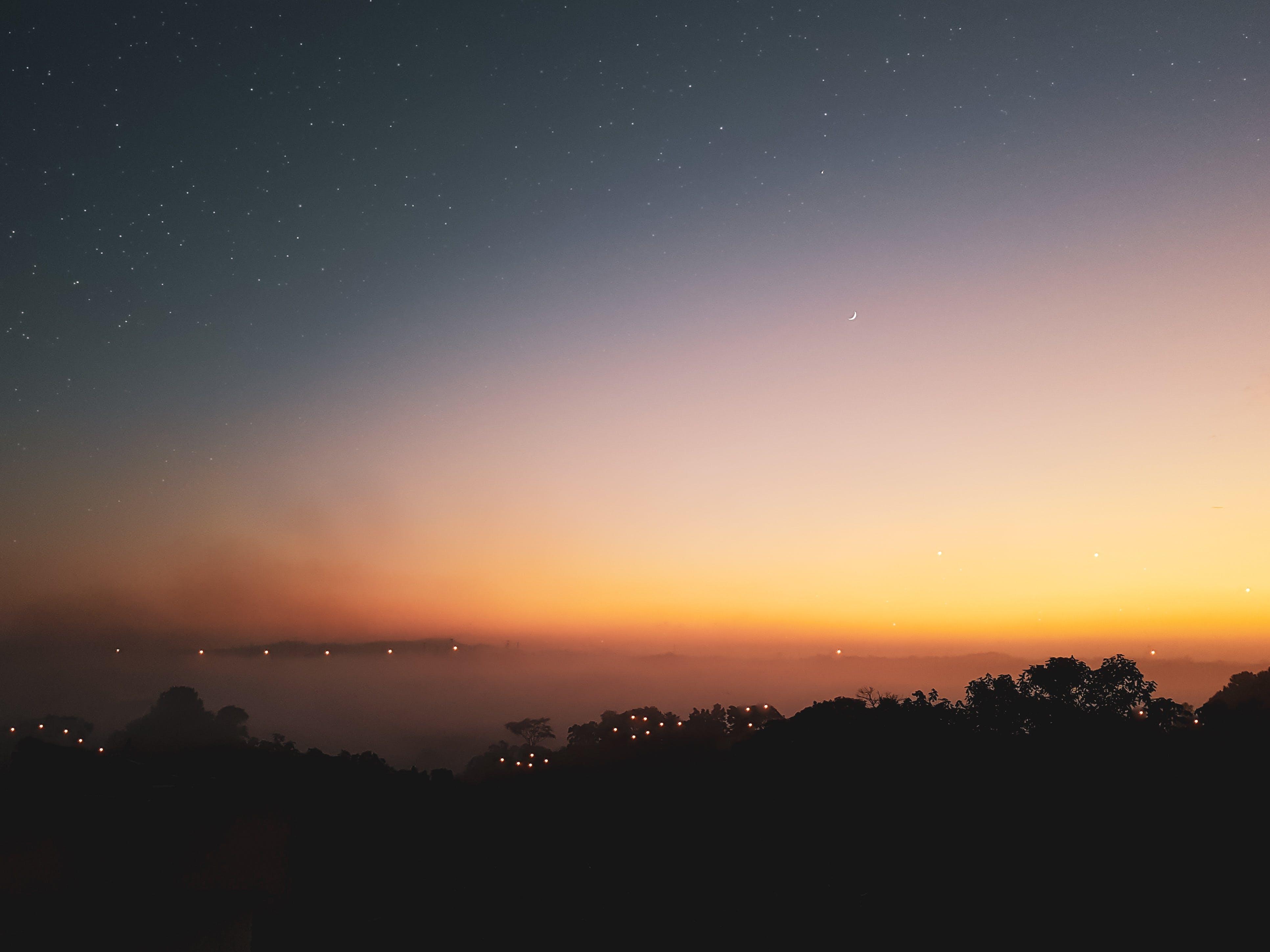 beautiful, nature, sunset
