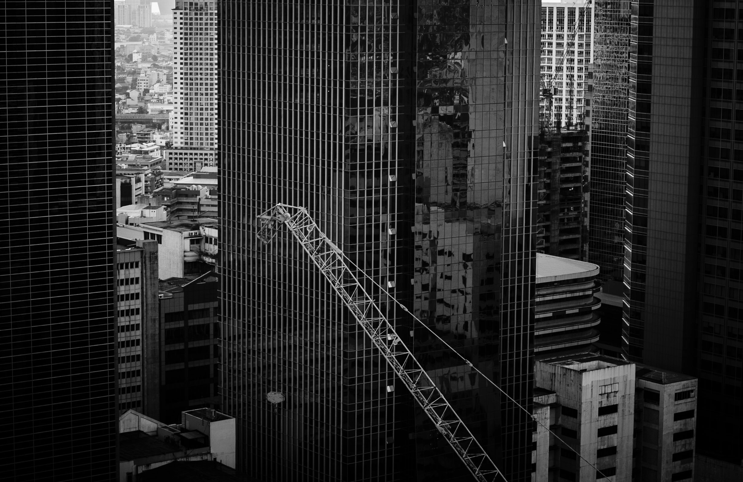 Glass High Rise Building On Low Angle Photography At