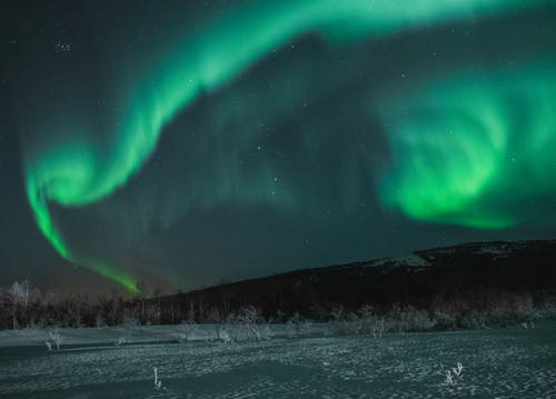 Northern Aurora Lights on Sky