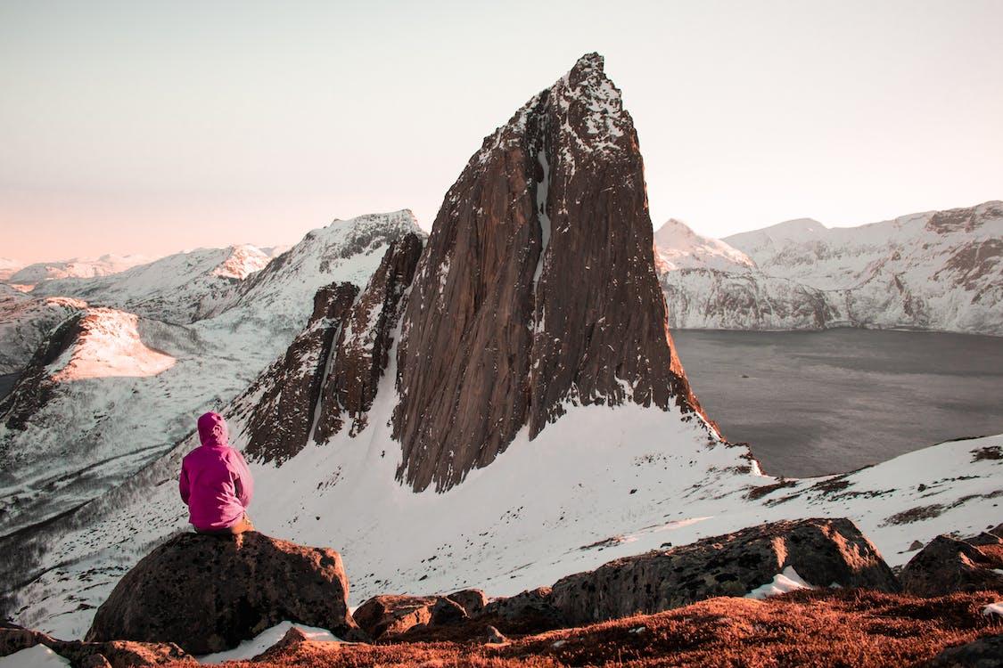 alpinista, altitude, ao ar livre