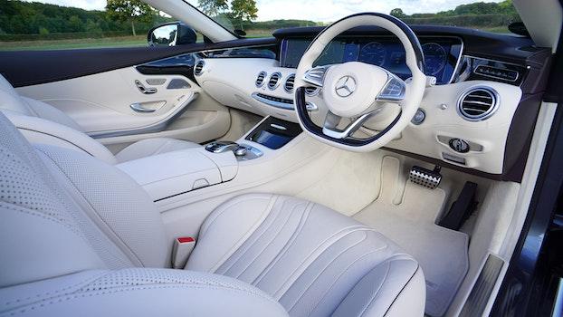 White Mercedes Benz Interior Design