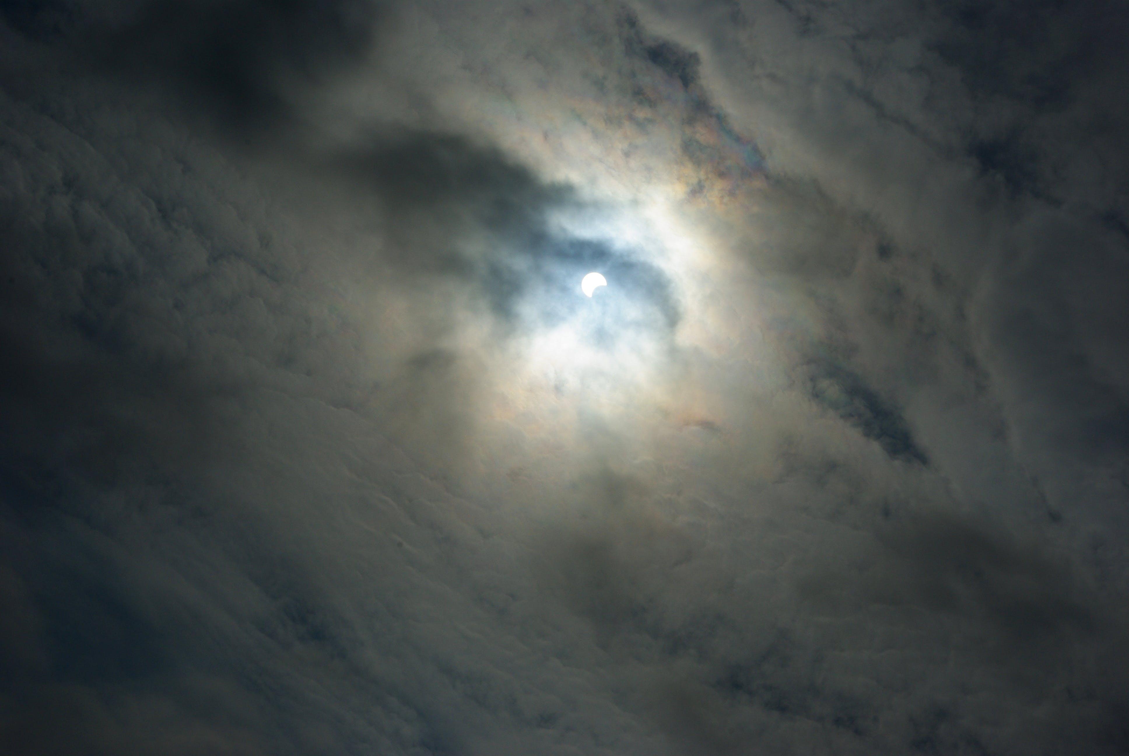 Kostenloses Stock Foto zu finsternis, mond, solar, teilweise