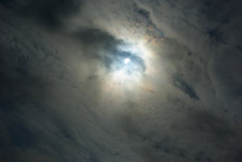 Free stock photo of clouds, eclipse, moon
