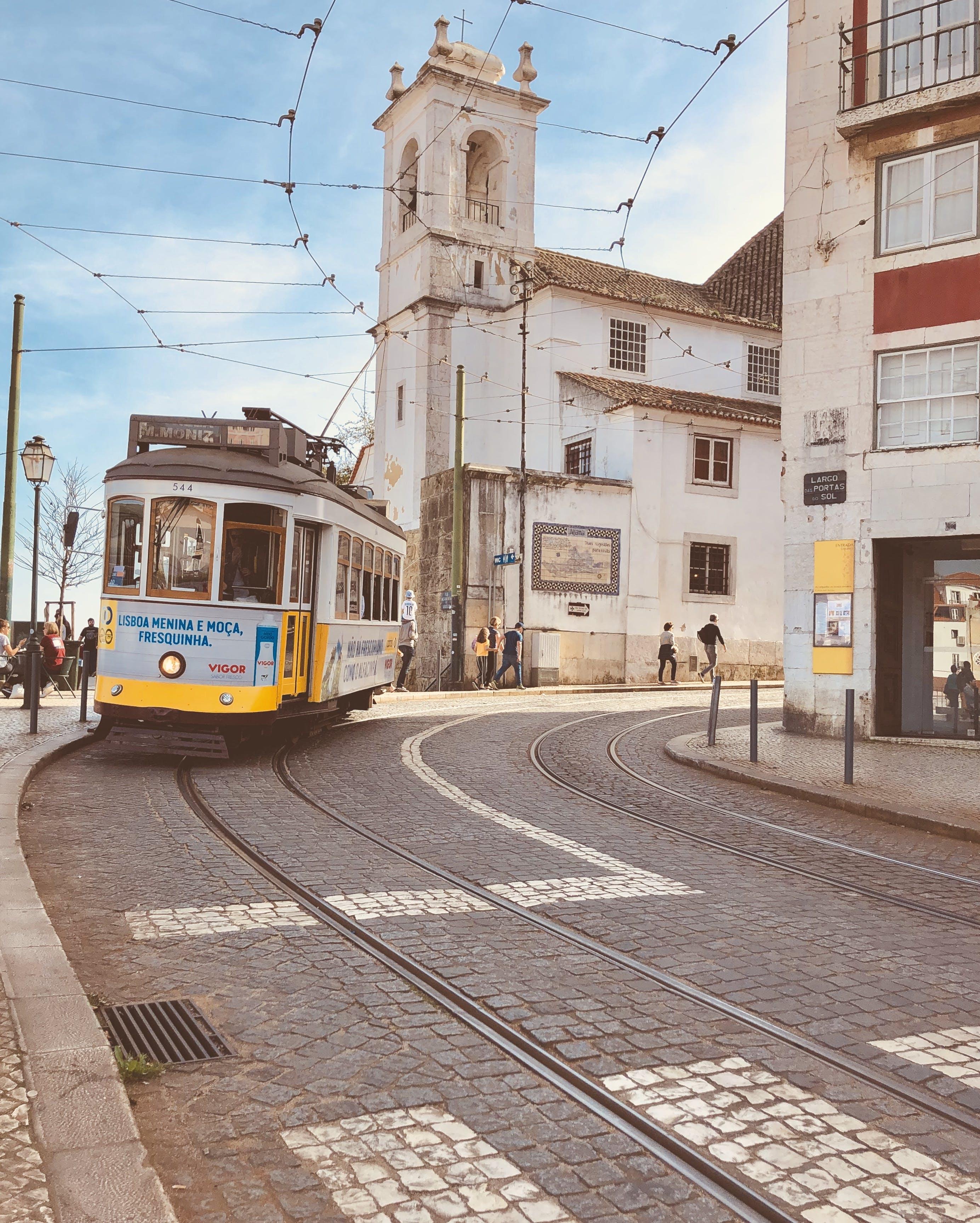 Free stock photo of alfama, Lisbon, tram