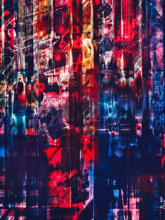抽象背景, 抽象表現主義, 漆黑
