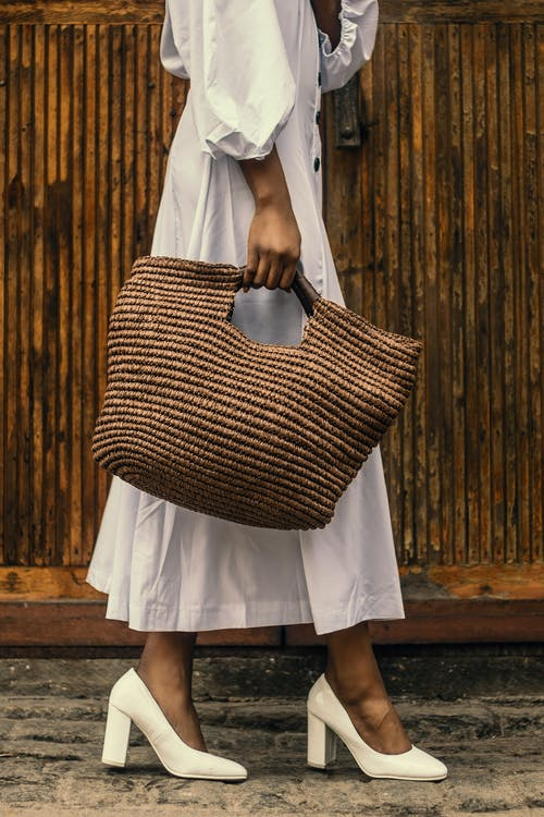 Free stock photo of advert, bamboo bag, basket bag