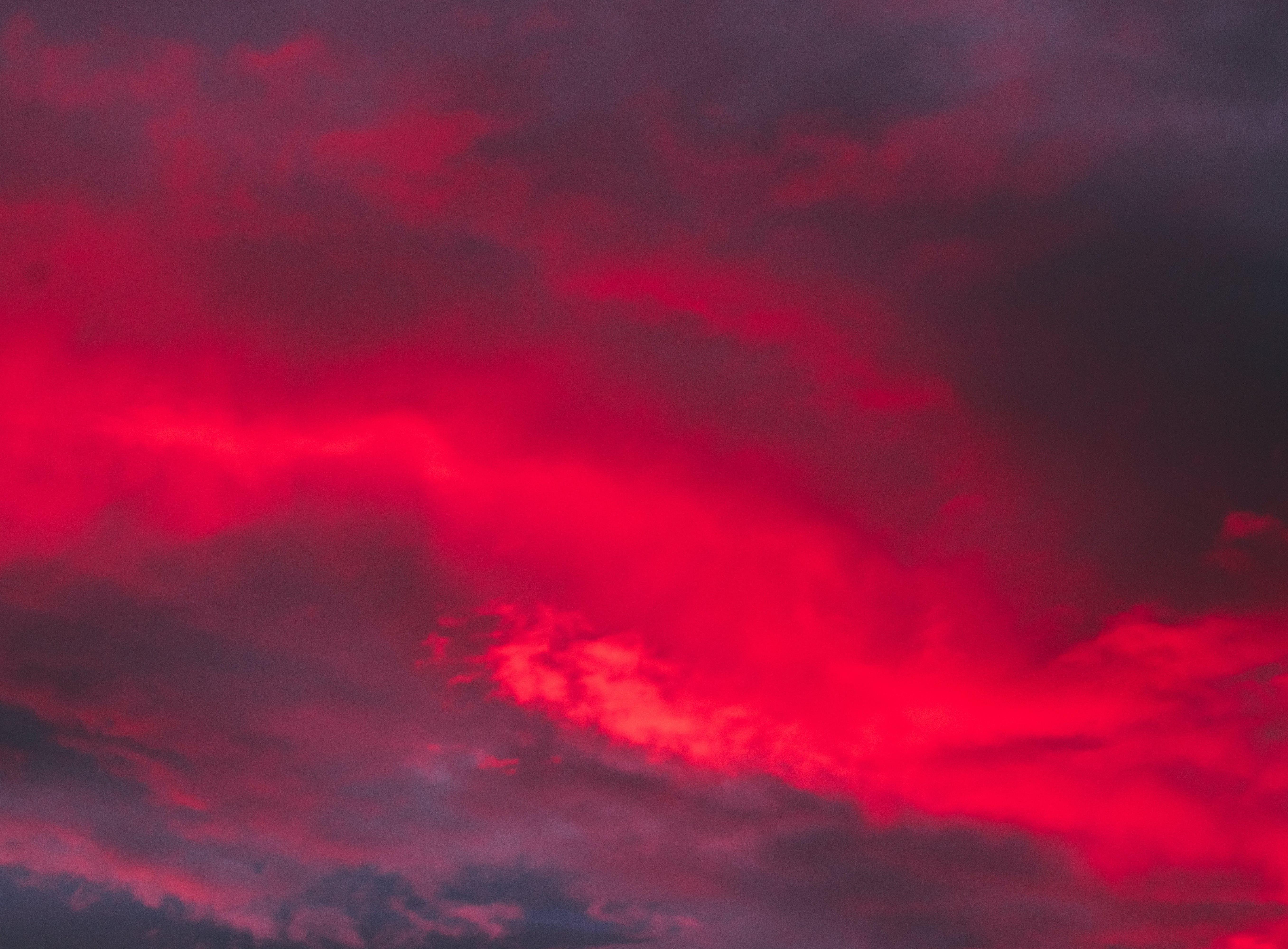 구름, 구름 경치, 드라마틱한, 빨간의 무료 스톡 사진