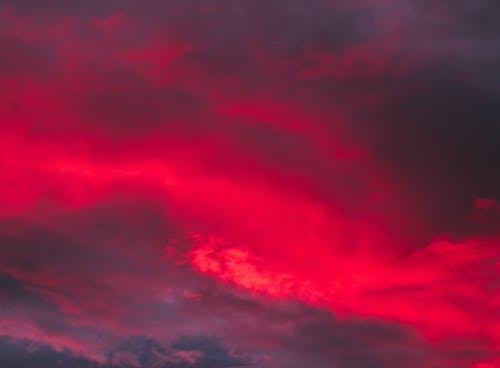 Darmowe zdjęcie z galerii z chmury, czerwony, dramatyczny, kolor