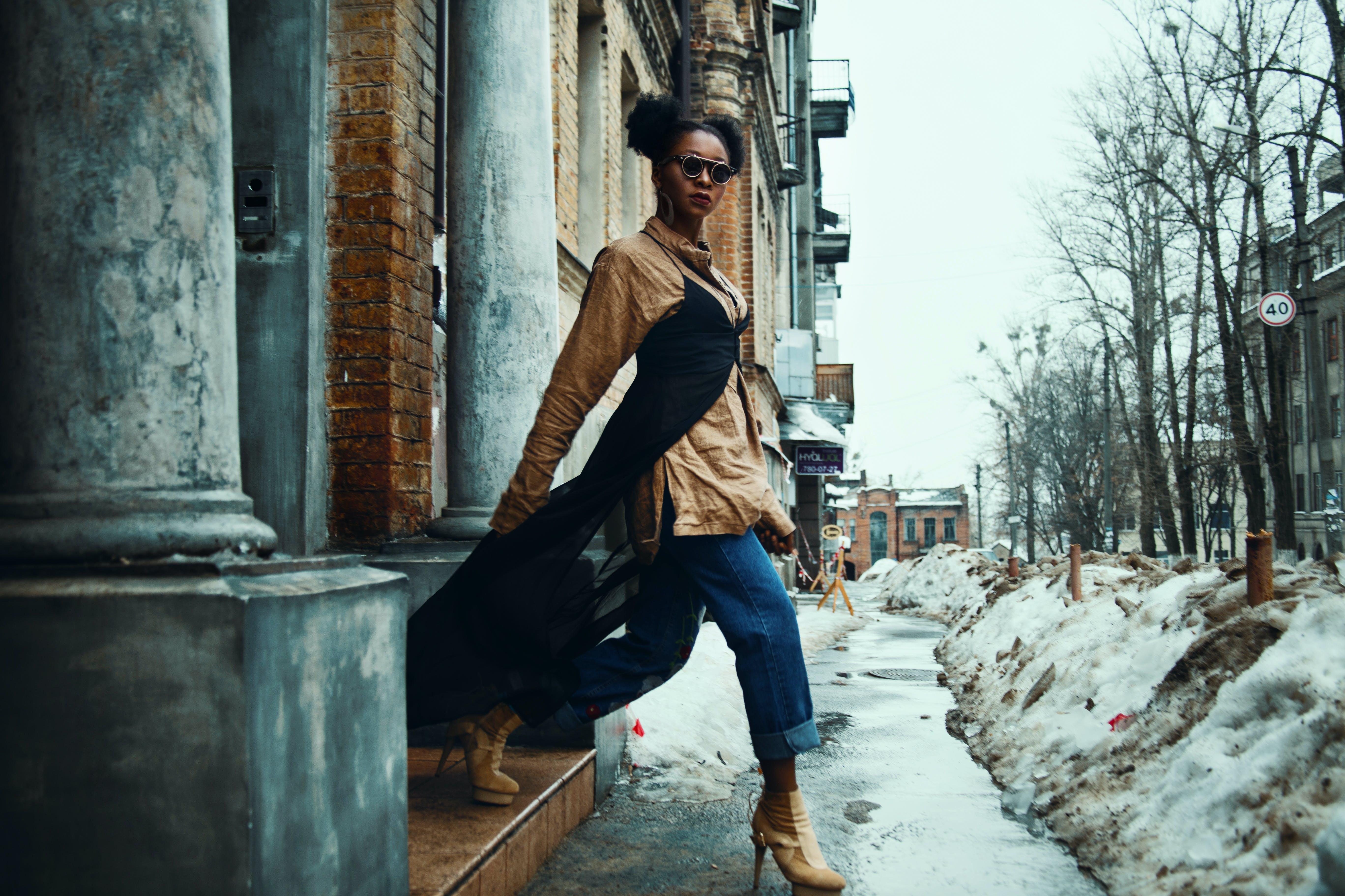 おしゃれ, アフリカ系アメリカ人女性, スタイリッシュ, スタイルの無料の写真素材