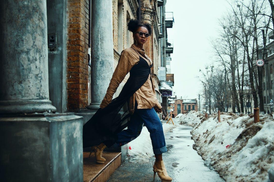 hợp thời trang, mặc, người phụ nữ Mỹ gốc Phi